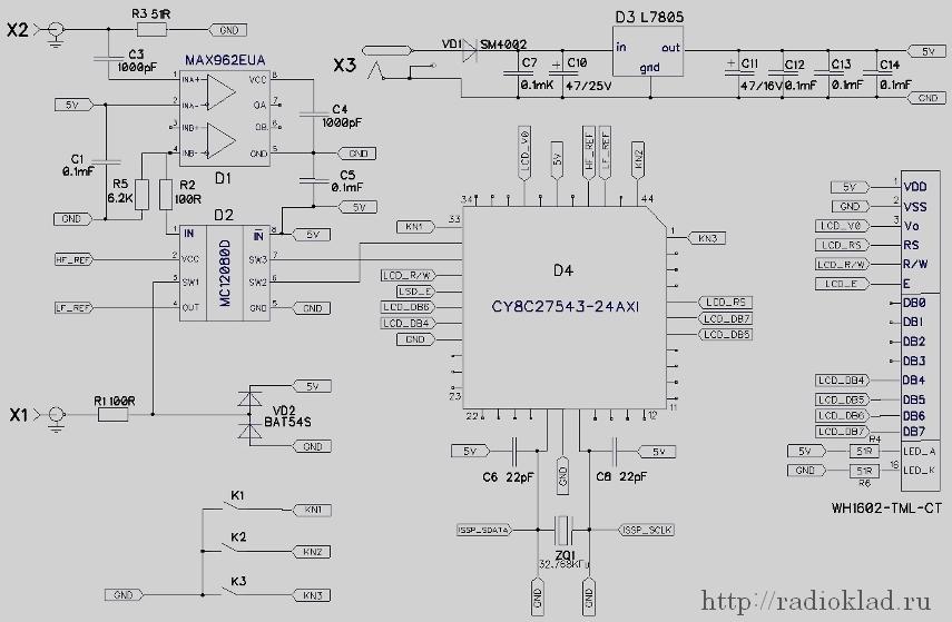 Схема частотомера