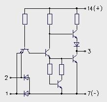 Схема элемента микросхемы
