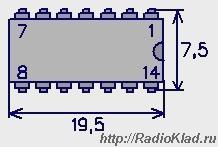 Цоколевка К155ЛА3